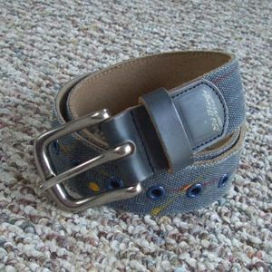 Ed Hardy leather canvas printed belt S